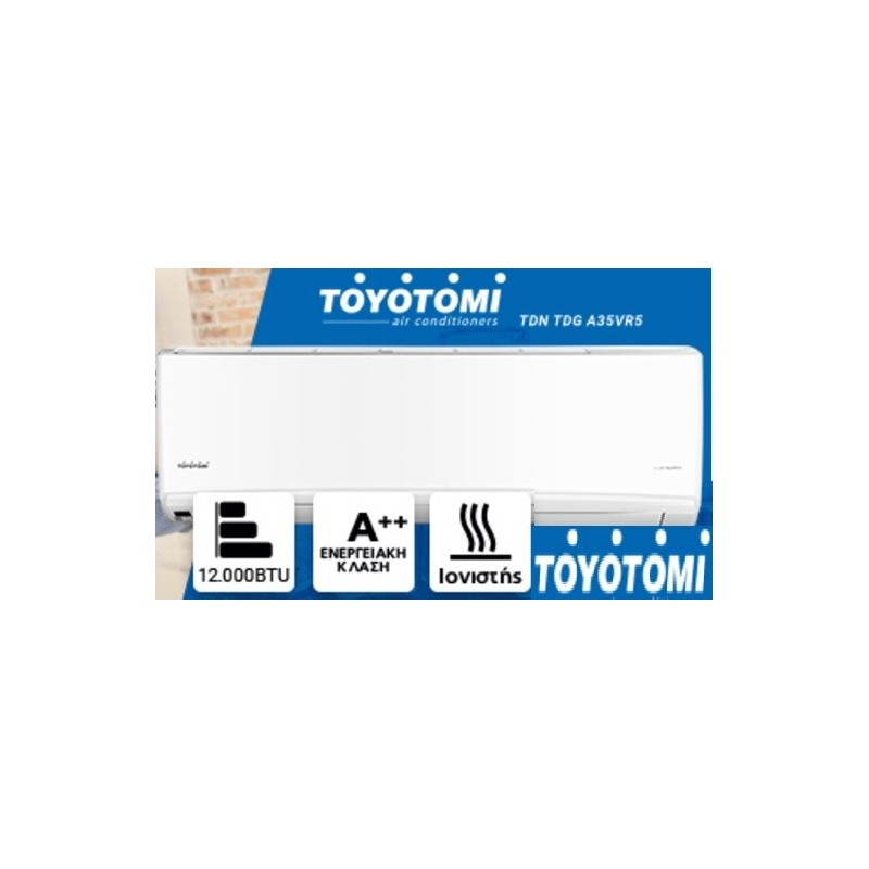 TOYOTOMI TDN/TDG A35VR5 ΚΛΙΜΑΤΙΣΤΙΚΟ INVERTER 12000BTU